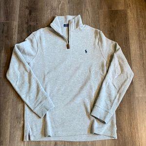 Men's Polo Ralph Lauren Cotton Half Zip Pullover M